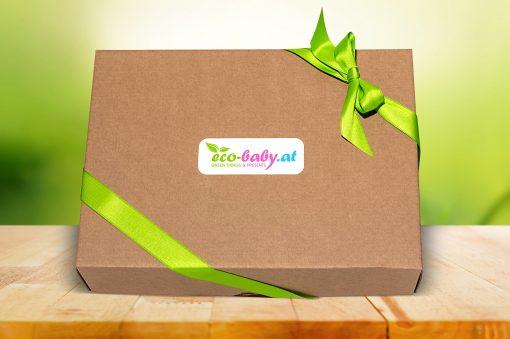 Geschenkverpackung aus Naturkarton