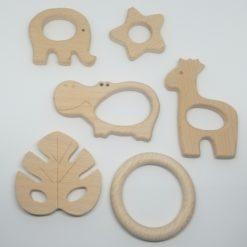 Holz Greifling Motorikspielzeug - personalisierbar - Beißanhänger