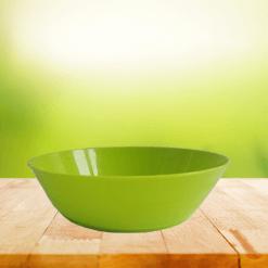 Biodora Teller grün - Biokunststoff, ohne Weichmacher, spülmaschinengeeignet
