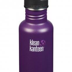 Klean Kanteen nachhaltige Edelstahl-Trinkflasche lila