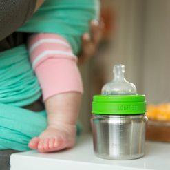 Klean Kanteen nachhaltige Baby Edelstahl-Trinkflasche