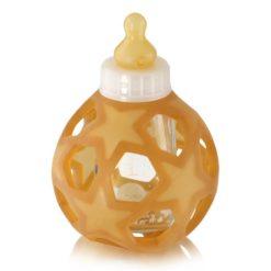 Hevea Babyflasche Glas mit Star Ball aus Kautschuk