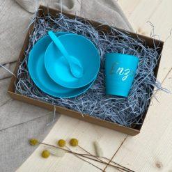Biodora Geschirr Geschenkbox nachhaltig aus nachwachsenden Rohstoffen - personalisierbar