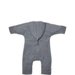 Kitz Heimat Bio-Baumwollfleece Overall Grey Dusty Mint atmungsaktiv