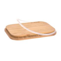 LÄSSIG Lunchbox Edelstahl mit Holzdeckel
