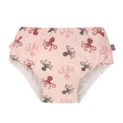 LÄSSIG Schwimmwindel Octopus rose_vorne