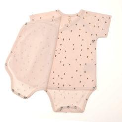 LÄSSIG Wickelbody kurzarm Punkte powder pink_Details
