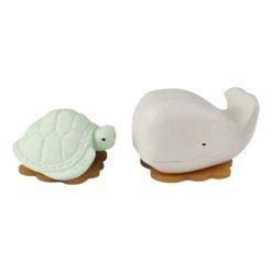 Badespielzeug Wal Schildkröte frosty white sage