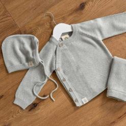 Knitted wear grau