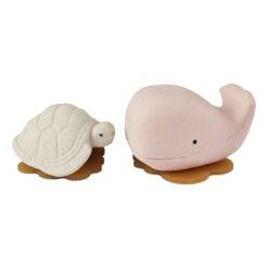 HEVEA Badespielzeug Wal Schildkröte champagner