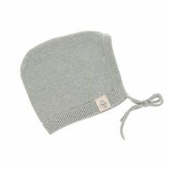 Knitted Cap Babymütze aqua grey