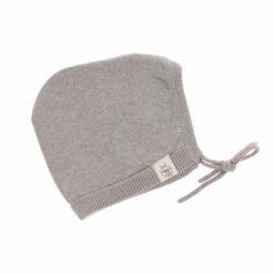 Knitted Cap Babymütze grey