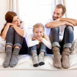 Alpaka Socken temperatur und feuchtigkeitsregulierend für Kinder - Fellhof