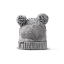 Fellhof Babymütze Niki aus Merinowolle grau